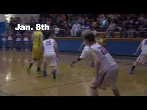 Watch: Hunter Riffle of Doddridge County High School make the game winning shot, twice!