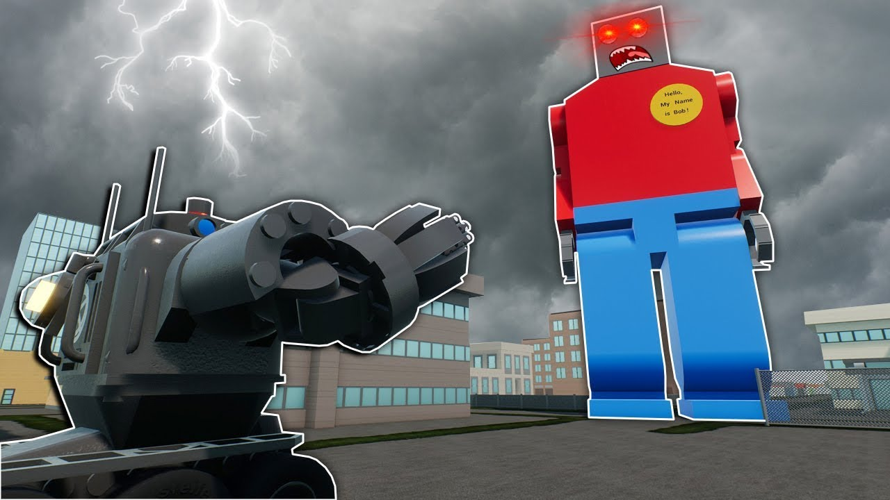 Bad Police Officers Try To Stop Bobzilla Brick Rigs Roleplay Play Lego Movie