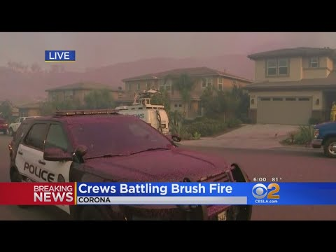 150+ Homes Evacuated In Corona Brush Fire