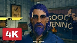 Fallout 76 Character Creator Gameplay in 4K