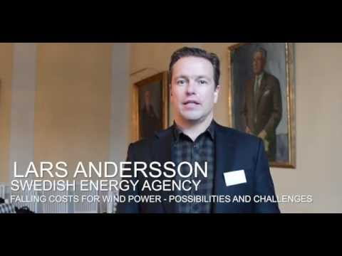 Lars Andersson on Falling Costs for Wind Power at SITE Energy Day