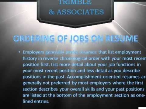 Denver Finance Jobs-Resume Dos and Donts Part 2
