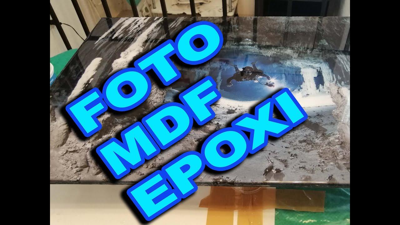 Como montar una foto impresa en vinil adhesivo en una placa de MDF y encapsularla en resina epoxica