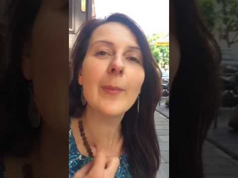 Jilliana Ranicar-Breese in Vilnius with Kristina talking about Amber.18/6/17.