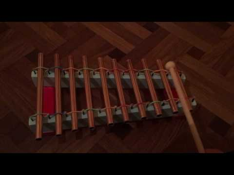 Copper pipe xylophone
