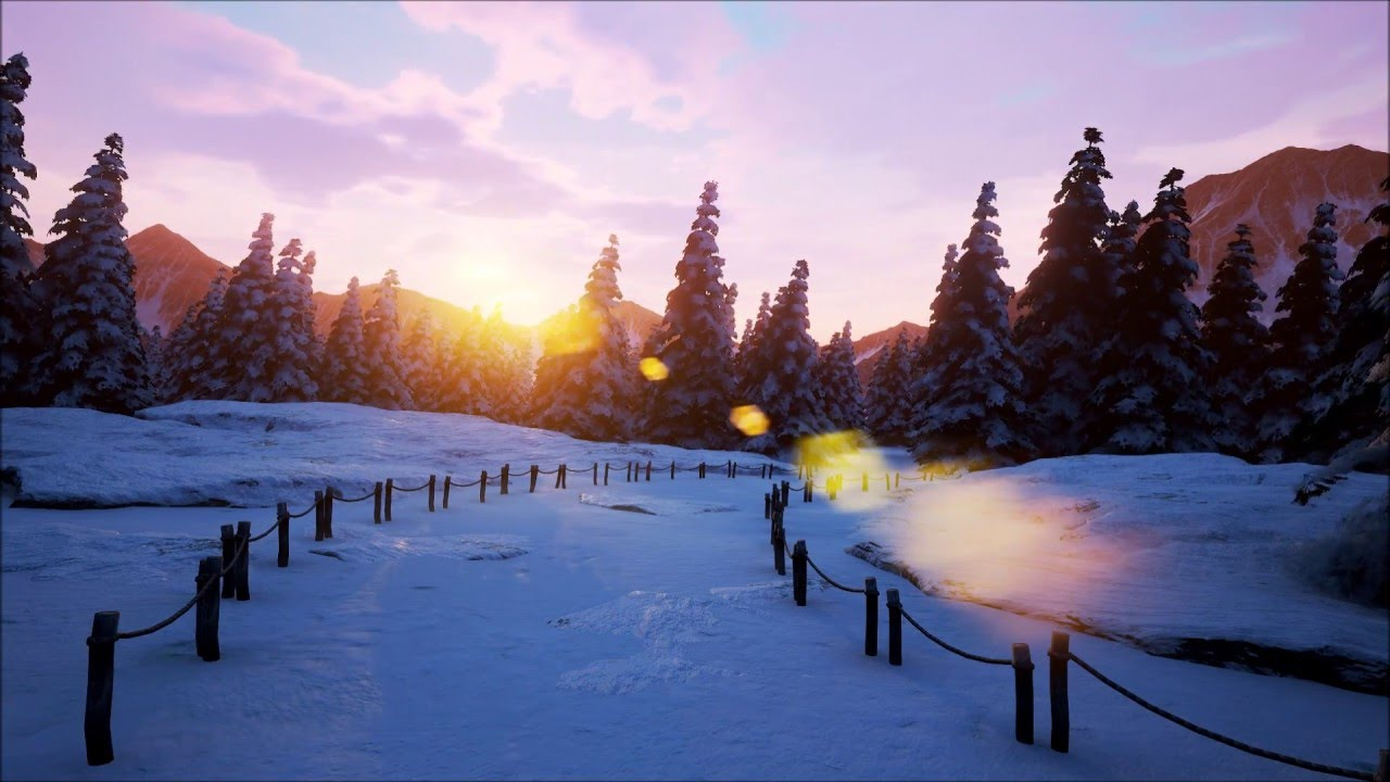 Snowy Mountains UE4 - hmong video