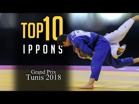 TOP 10 IPPONS | Grand Prix Tunis 2018 柔道