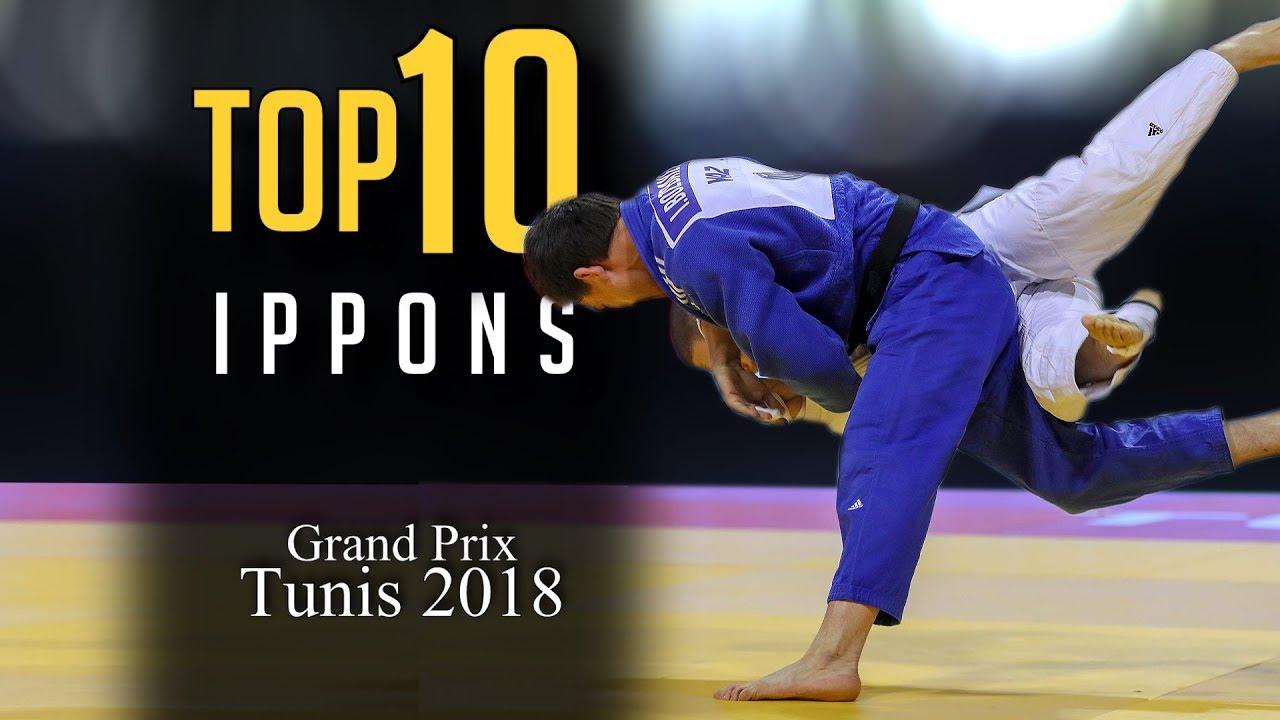TOP 10 IPPONS   Grand Prix Tunis 2018 柔道