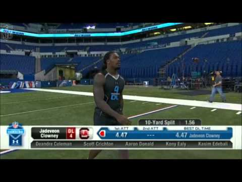 Jadeveon Clowney - 40 yard dash - Combine 2014