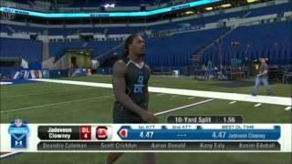 Repeat youtube video Jadeveon Clowney - 40 yard dash - Combine 2014