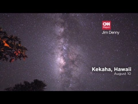 Perseid meteor shower lights up the sky - YouTube