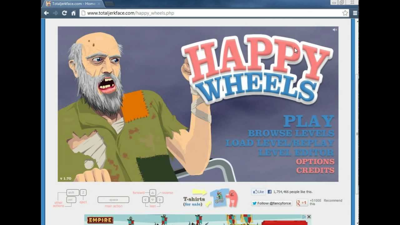 How To Get Happy Wheels For Free No Download Youtube