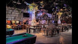 spaced out indiana jones themed mancave