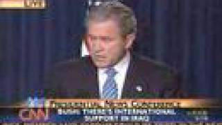 Bush on  9/11- Amazing answer, just see the face of Bush.