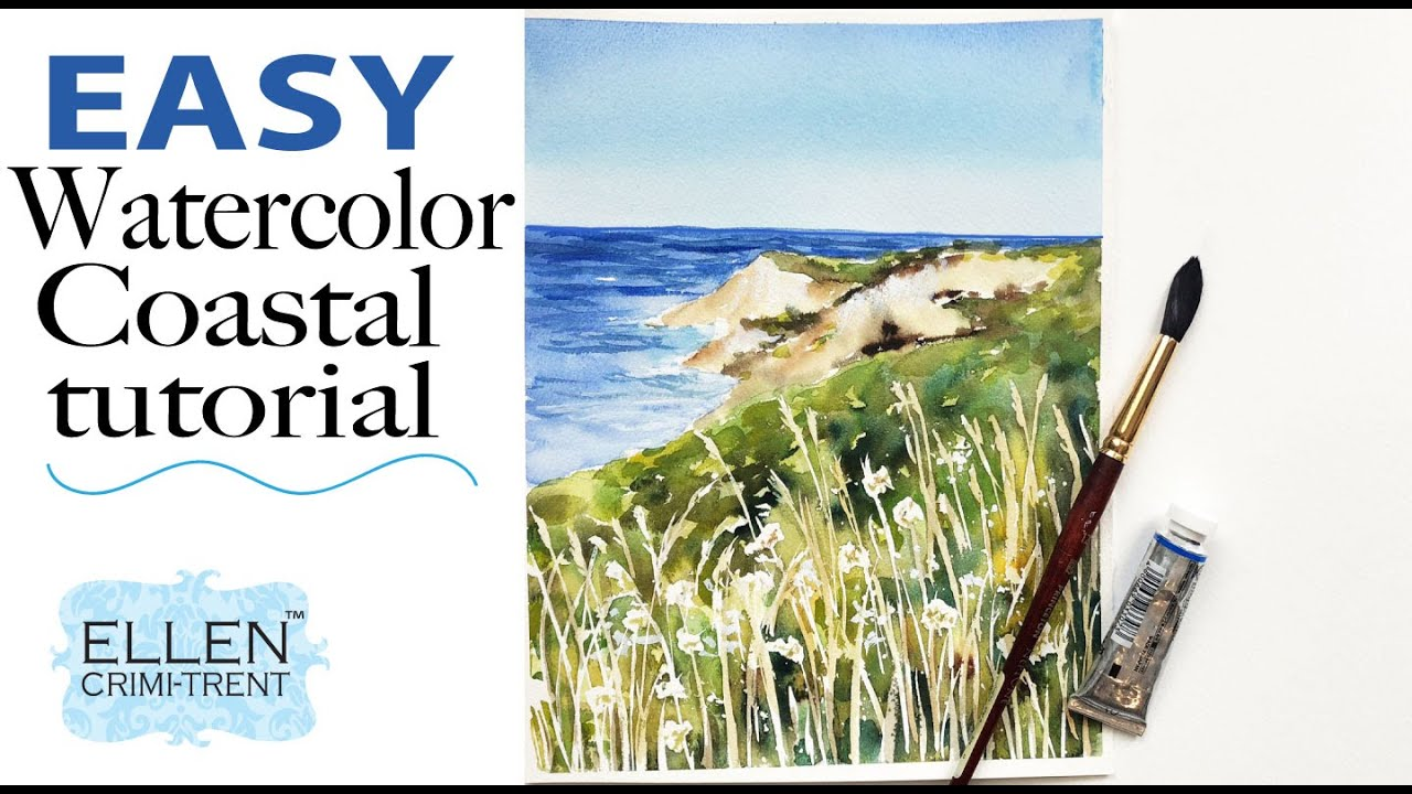 Watercolor Coastal Painting Tutorial