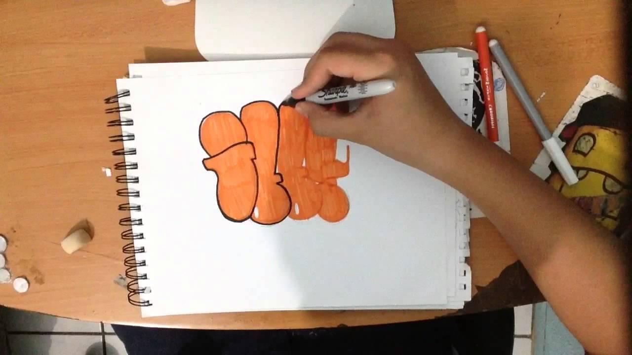GRAFFITI FACIL DE HACER - YouTube