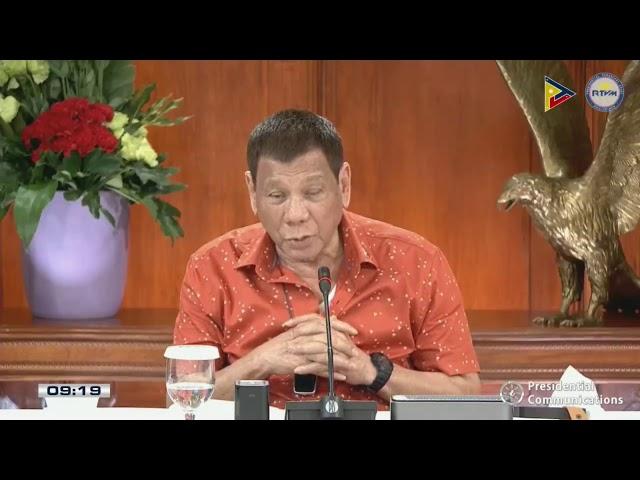 WATCH: President Rodrigo Duterte addresses to the nation (Oct. 19, 2020)