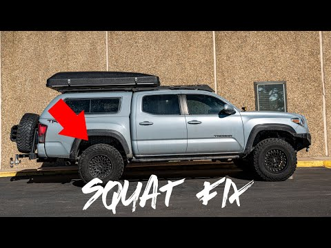 How to Fix Rear Sag on a Tacoma