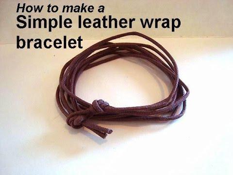 Diy Simple Unisexleather Wrap Bracelet Jewelry Making