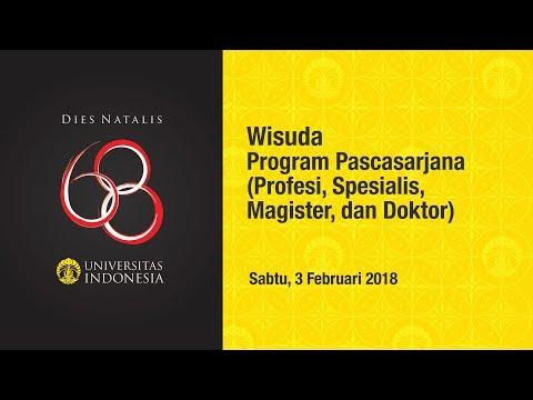 Wisuda UI Program Pascasarjana Semester Gasal 2018