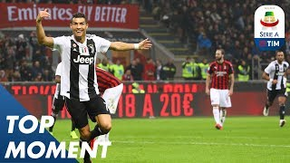 Ronaldo Gets 100th Goal by Juventus at the San Siro | Milan 0-2 Juventus | Top Moment | Serie A