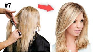 Модная Стрижка на средние волосы Пошагово дома Стрижки 2021 Уроки быстрых стрижек Рапсодия