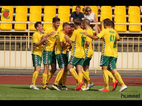 Lithuania 2:0 Estonia 2016 05 29 Baltic Cup highlights