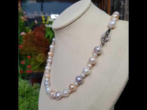 Vòng cổ Ngọc trai nước ngọt thiên nhiên Cao cấp - ChuỗI đơn tròn - Quyền quý cao sang - AthenaPearl (9-10ly) - CTJ0512