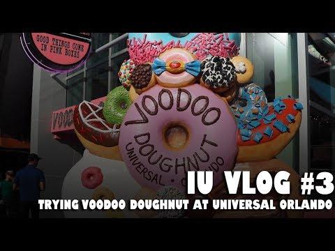 Trying Voodoo Doughnut at Universal Orlando  - IU Vlog #3 (3/28/18)