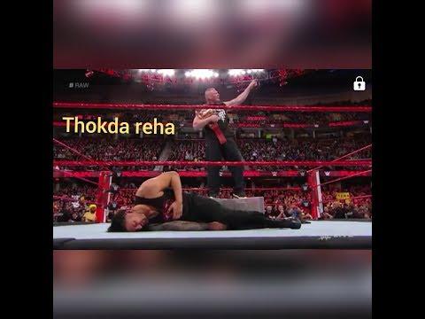 Wwe  Brock lesnar and roman reigns on punjabi song thokda reha
