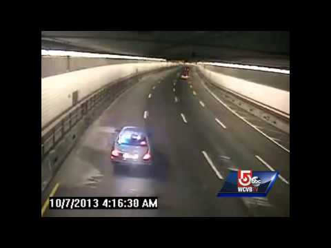 Trooper in Central Artery tunnel narrowly escapes crash