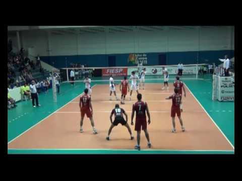 Campeonato Paulista Vôlei 2013 FUNVIC 3x2 SESI