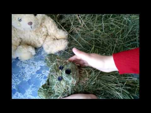 Заяц из сена своими руками