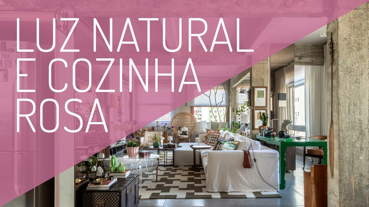 Apê com Mistura Perfeita: Luz Natural, Marcenaria Rosa na Cozinha e Decoração com Afeto e Artesanato