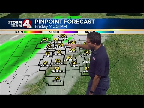 Season's first snow possible this weekend across Ohio