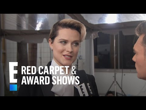 Evan Rachel Wood's Daring Outfit at 2017 Globes | E! Live from the Red Carpet
