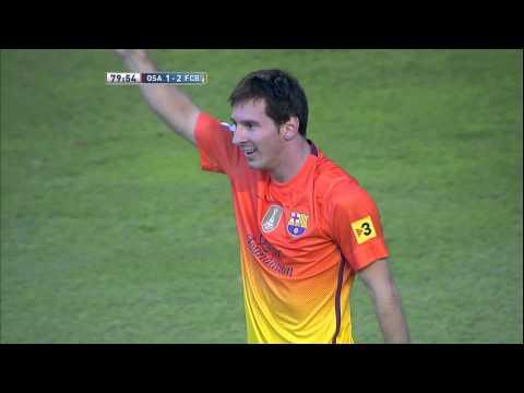 Gol de Messi (1-2) en el Osasuna - FC Barcelona Jornada 2