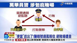 性招待賄賂!萬華4貪警 勾結黑道包庇賭場│中視新聞 20171013