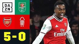 Gunners-Youngsters zu stark für Nottingham: Arsenal - Nottingham 5:0 | Carabao Cup | DAZN Highlights