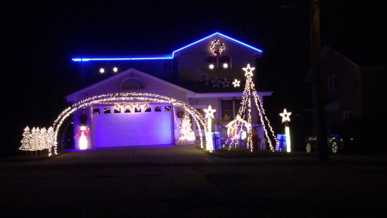 Let It Go From Frozen  Christmas House Light Show