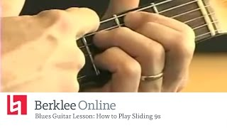 Blues Guitar Lesson - How to Play Sliding 9s
