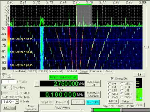 Oddities Station, HAARP, July 24, 2011, 0818 UTC, 2750 kHz