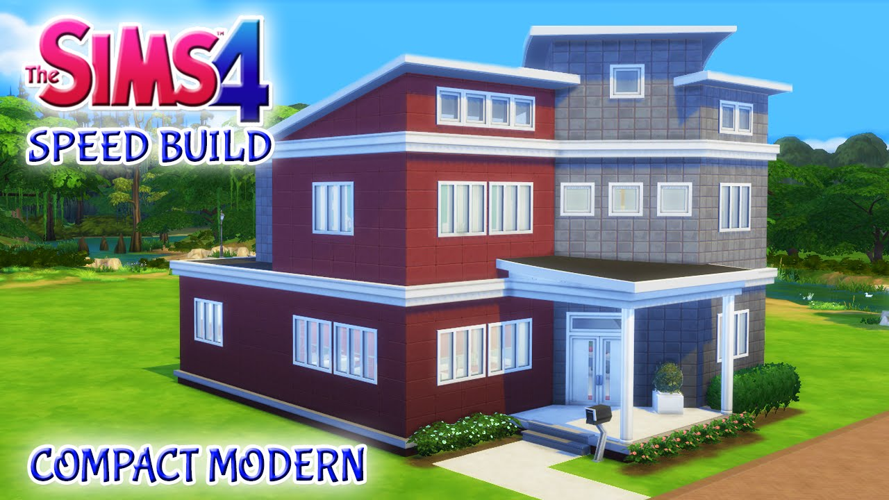 Sims 4 house build compact modern family home youtube for Modern family house 90210