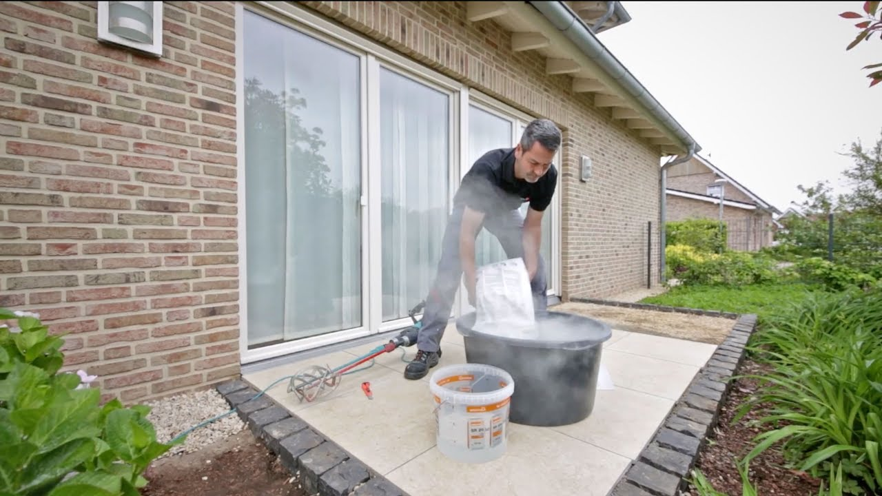 keramische terrassenplatten sicher und dauerhaft verfugen mit tubag pfk youtube