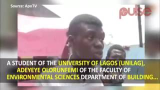 Unilag student who was rusticated for calling his vc a waste