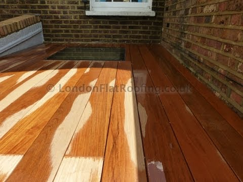 Walk On Skylight For A Flat Roof With Hardwood Timber