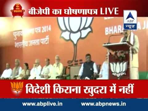 Full speech: Murli Manohar Joshi outlines BJP manifesto