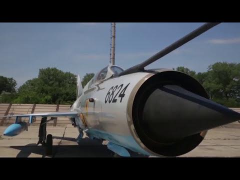 British Royal Air Force Typhoons and Romanian Air Force MiG 21 Aircraft