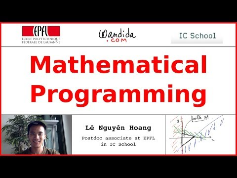 Mathematical Programming | Lê Nguyên Hoang