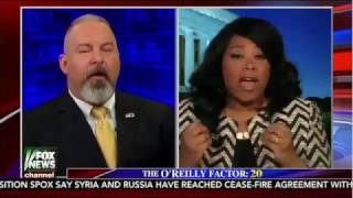 Jonathan T Gilliam debating Jamila Bey on the O'REILLY FACTOR 12/29/2016 FOX NEWS